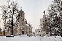 Architectural Ensemble of Andronik Monastery Covered with Snow