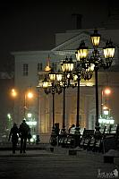 Night Walk by Street Lamps