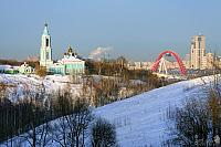 Picturesque Winter View from Krylatsky Hills
