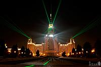 Laser Effects on building of MGU at Vorobyevy Gory