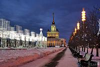 New Year Light Installations on the Alley of Glory at VDNKh