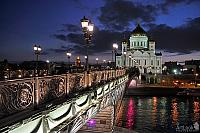 Twilight Over Patriarchy Bridge and Cathedral of Christ the Savior