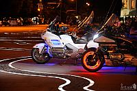 Colorful Motorcycles with LED Lights at Sparrow Hills