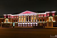 Illuminated Museum of Contemporary History of Russia at Night