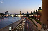 Kremlevskaya Embankment at Twilight on a Cool Spring Evening