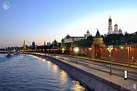 The Lights of Moscow Kremlin at Spring Twilight