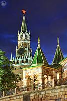 St. Basil's Porch and Spasskaya Tower in the Dusk