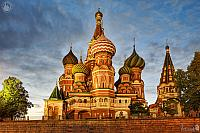 St. Basil's Cathedral Under Summer Twilight Skies