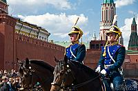 Cavalry Guards and Kremlin Towers