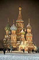 Backing to Winter Fairy Tale - St. Basil's Сathedral