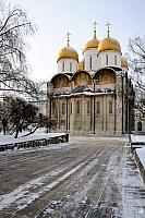 Assumption Cathedral of Moscow Kremlin in a cold winter day