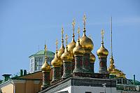 Golden Domes of Terem Churches in Moscow Kremlin