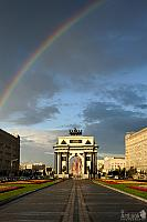 Rainbow over Triumphal Arch – Blessing from Heavens