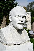 Bust of Vladimir Lenin in the park of sculptures