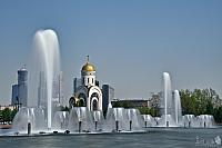 Fountains in Victory Park on Poklonnaya Hill