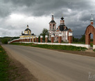 Church at Rural Road to Settlement Puchkovo