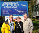 With Ex-Pilot Anatoly Ivanovich in Monino