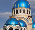 Striking Blue Domes of Holy Trinity Cathedral