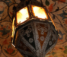 Details of Décor of Antique Lamp in Indoor Gallery