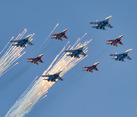 Russian Fighter Jets Shooting Flares
