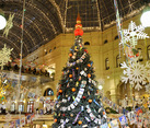 GUM Christmas Tree and New Year Decorations in Memory of1960s