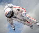 Launching aerostat in the shape of an astronaut on April 12, Cosmonautics Day