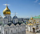 Beautiful Onion-Shaped Domes of Kremlin Churches