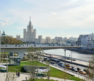 Hovering Bridge and Kotelnicheskaya Embankment Buildin