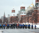The Third Winter Bicycle Parade in Moscow 2018