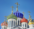 Porcelain Cupolas of Grand Prince Igor Church in Peredelkino
