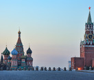 Spring Sunrise Over Empty Red Square