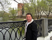On the bridge over Novodevichy Pond