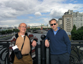 With Great Panorama of Moscow Kremlin