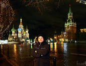 On Festive Red Square Before Christmas