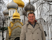 In front of Majestic Domes of Novodevichy