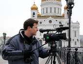 Shooting Panorama of Moscow Kremlin