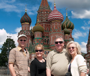 At Vasilievsky Spusk behind St. Basil's Cathedral