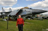 In front of MiG-31 in Monino Air Force Museum
