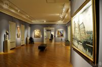Exhibition hall of gallery European and American Art