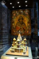 Portrait of Ivan The Terrible with model of St. Basil's Cathedral
