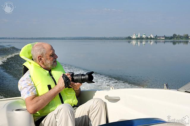 Photographing on a Motor Boat