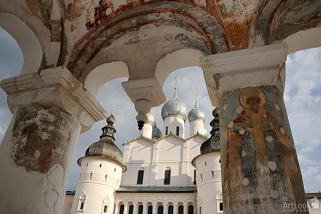 Under the Porch of Assumption Cathedral