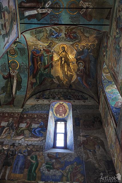 The Resurrection of Jesus Christ. Frescoes of Dormition Cathedral