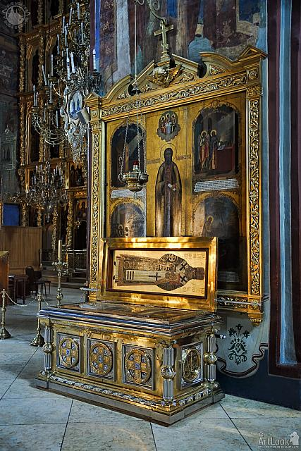 Relics of St. Innocent of Alaska and Icon of St. Sergius of Radonezh