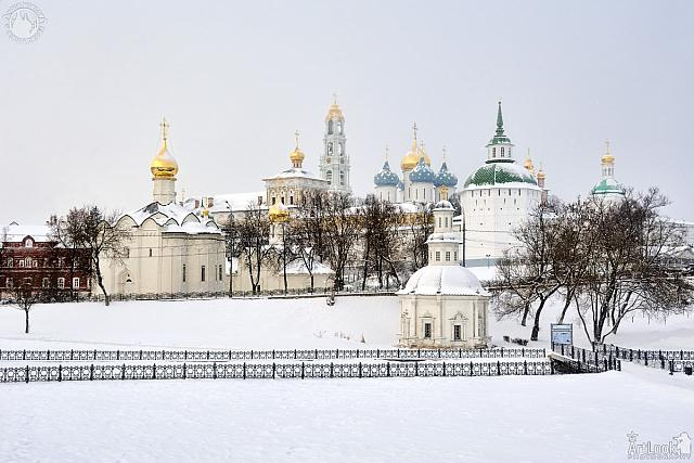 Panorama of Lavra from Bottom of Blinnaya Hill under Snow