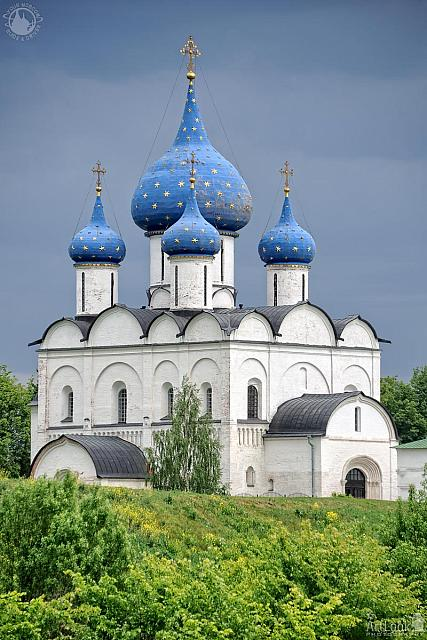 Nativity Cathedral with Blue Domes in Summer
