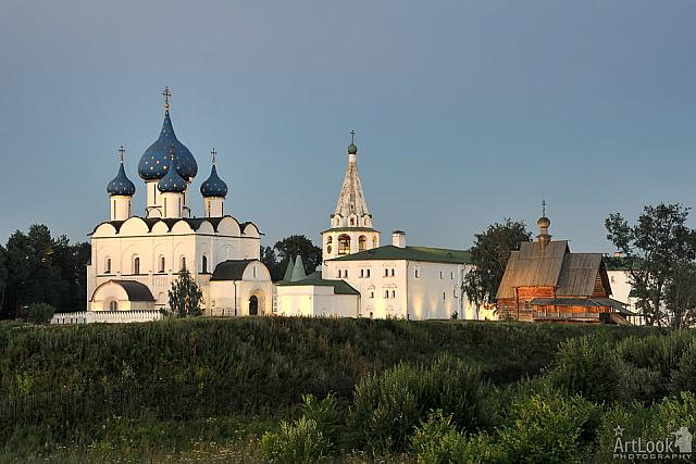 Architectural Ensemble of Suzdal Kremlin at Sunset