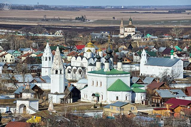 Monasteries and Churches of Suzdal in Springtime
