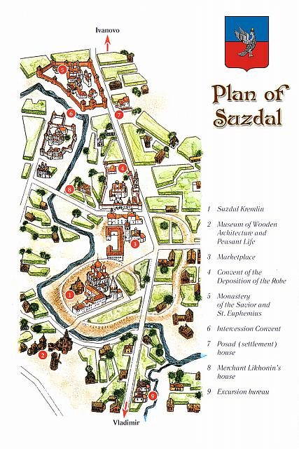 Plan of Suzdal