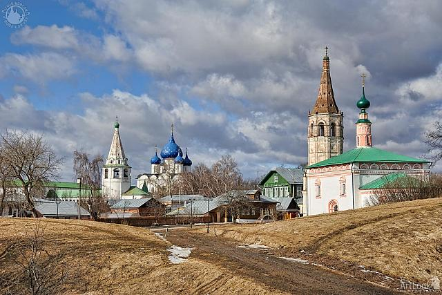A Road Through Ramparts to Suzdal Kremlin in Spring